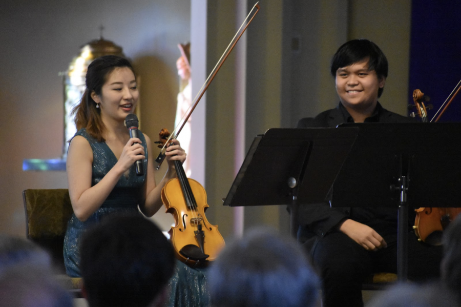 The Sacred Heart Concert Series gives Conservatory musicians such as fourth-year Yuyu Ikeda and third-year Johnum Palado a low-stress opportunity to perform the music they love.