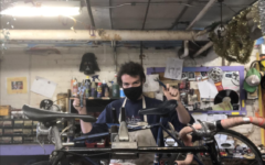 College fourth-year Tom LoVoi puts in a mechanic shift at the Oberlin Bike Co-op, which is looking for new first- and second-year members.