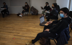 Students in Practicing the Art of Music Journalism attend in-person class. Over the course of the semester, they will publish eight pieces each to the digital publication The Updraft.