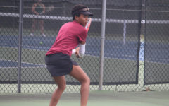 College third-year and women's tennis player Alandria Bellamy.