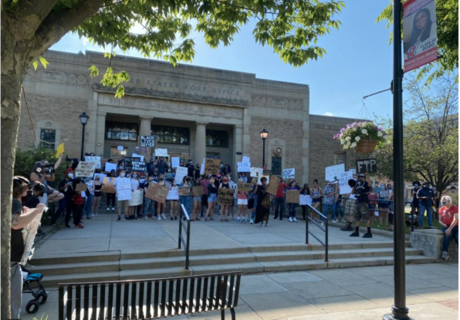 Students gathered downtown last June to protest the murder of George Floyd. Almost a year later, the officer that killed him has been convicted on three charges — second-degree unintentional murder, third-degree murder, and second-degree manslaughter.
