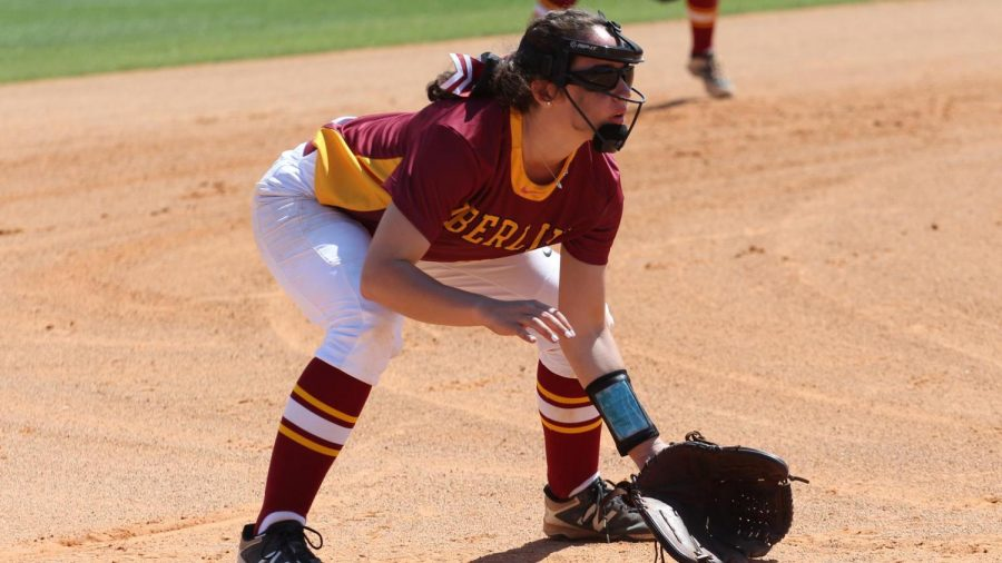 College third-year and softball player Anna Slebonick.