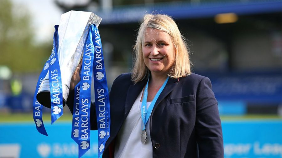 Emma Hayes, manager and coach of the Chelsea Football Club womens team.