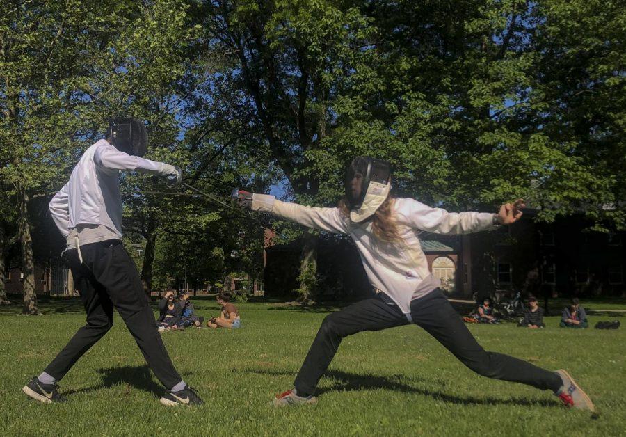 Oberlins club fencing team.