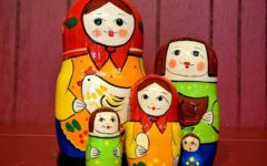 The matryoshka doll typically depicts white peasant women and their families which epitomizes a falsified image of Russian culture as essentially white or socially conservative in nature.