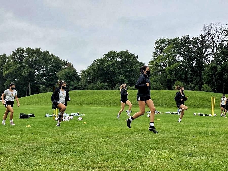The Oberlin women's soccer team.