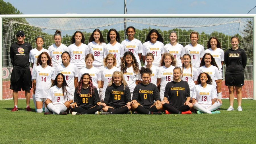 Oberlin College women's soccer team.